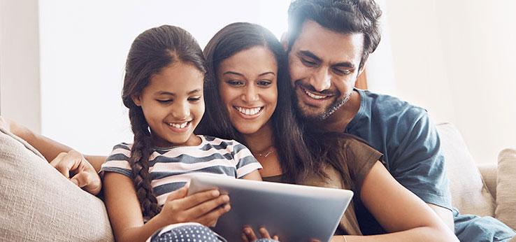 Vexus Fiber customers enjoying the speed and reliability that comes with Vexus Fiber Optic Internet Service while using their tablet